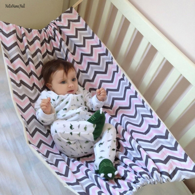 NoEnName-Null Infant Safety Baby Hammock Printed Home Outdoor Detachable Portable Comfortable Bed Kit Hanging Seat Garden Swing