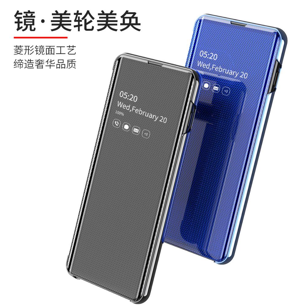 Image 2 - Smart Mirror Flip Phone Case For Samsung Galaxy S9 S10 S8 Plus S10E A30 A50 A70 A750 Clear View Cover For Galaxy Note 10 9 8 Pro-in Flip Cases from Cellphones & Telecommunications