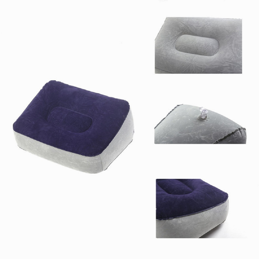 Inflatable Foot Rest Cushion Under Desk Support Pillow Knee Sciatica Hip Joint Ankle Pain Relief Car Airplane Footrest Pillows