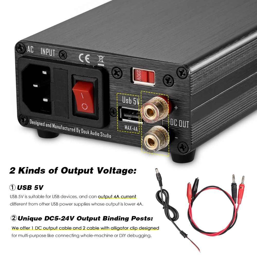 Nobsound 25 Вт Регулируемый DC Линейный Питание с USB 5 V DC 5 V-24 V Выход для аудио ЦАП/цифровых плееров