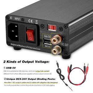 Image 5 - Nobsound 25W ayarlanabilir DC regüle lineer güç kaynağı ile USB 5V ve DC 5 V 24 V çıkış ses DAC/dijital oyuncu
