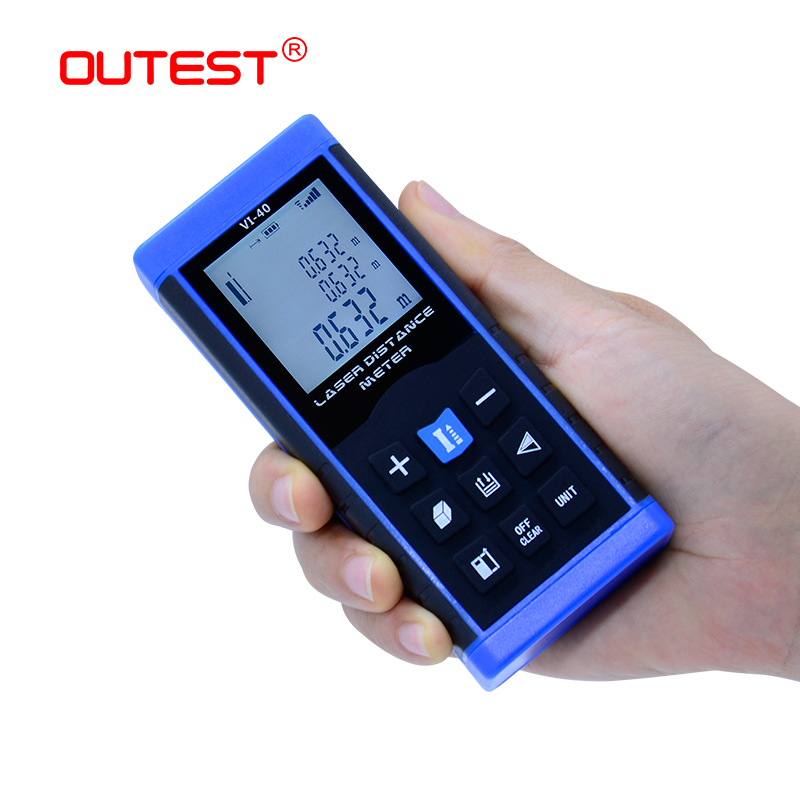 OUTEST Mini Laser Distance Meter 40M 60M 80M 100M Rangefinder Trena Laser Tape Rangefinder Build Measure Bevice Ruler Test Tool