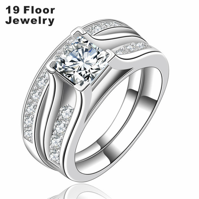 Wedding Ring bridal Sets for women luxury rings vintage bague engagement bijoux for lady Accessories FSR1484