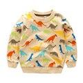 T-shirt da camisola do bebê do algodão primavera Meninos das crianças encabeça desgaste