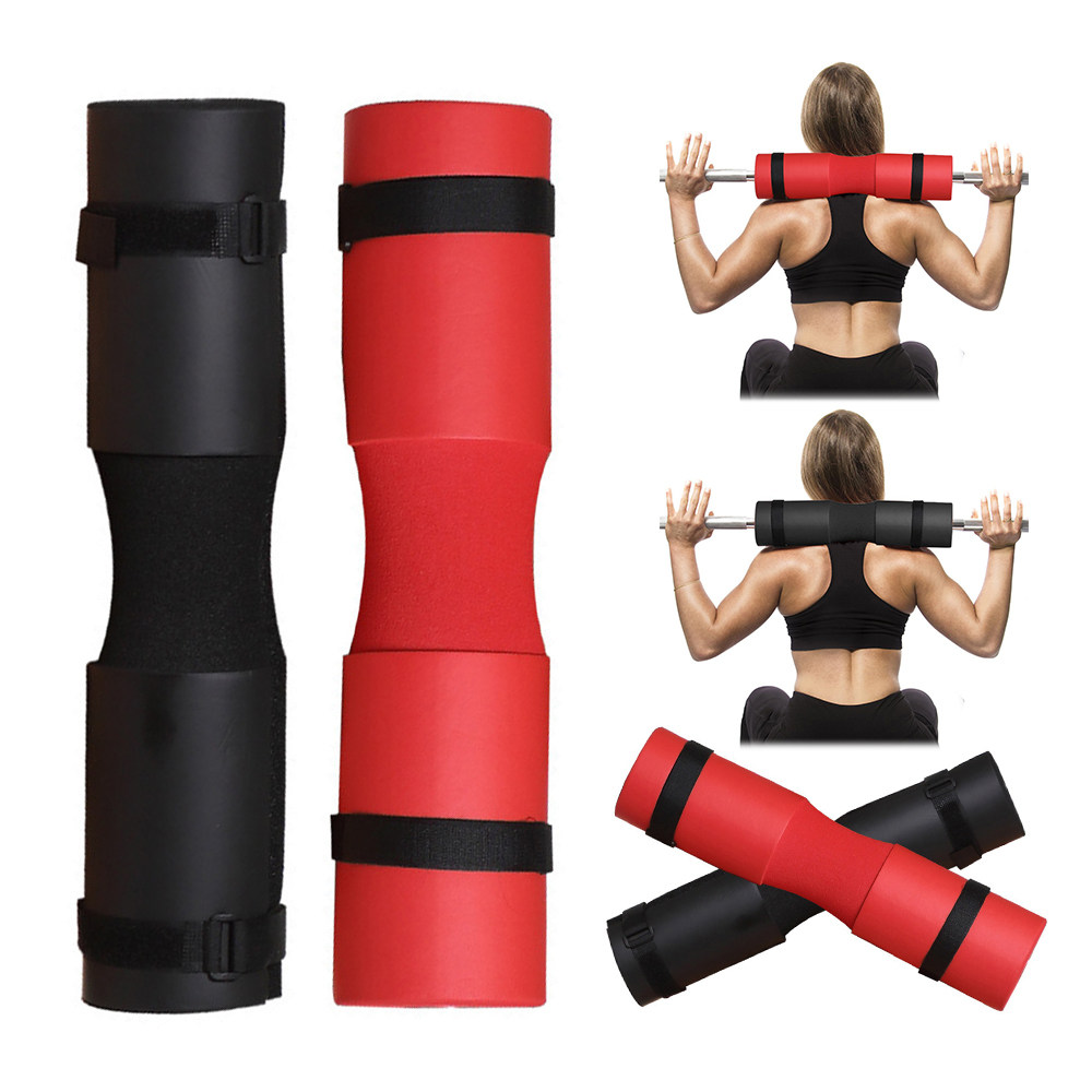 Fitness Weightlifting Squat Barbell Shoulder Back Protector Pad with Strap