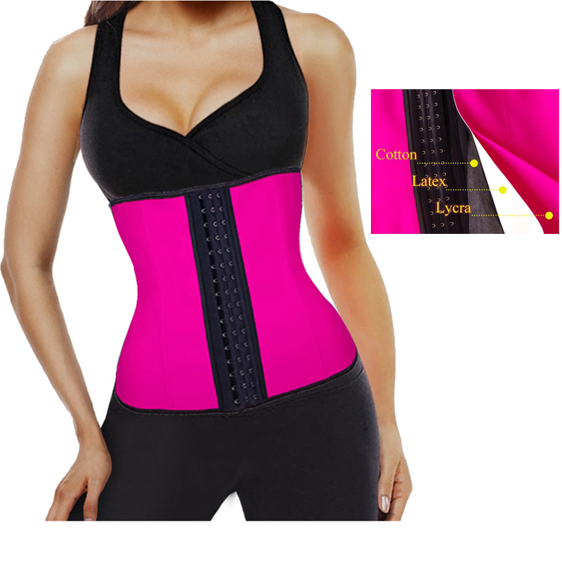ef3253b4f2 MUKATU Plus Size Corset Slim Shaper Steel Bone Corset Waist Trainer Latex  Girdle Women Waist Belt Slim Underwear Waist Shapewear