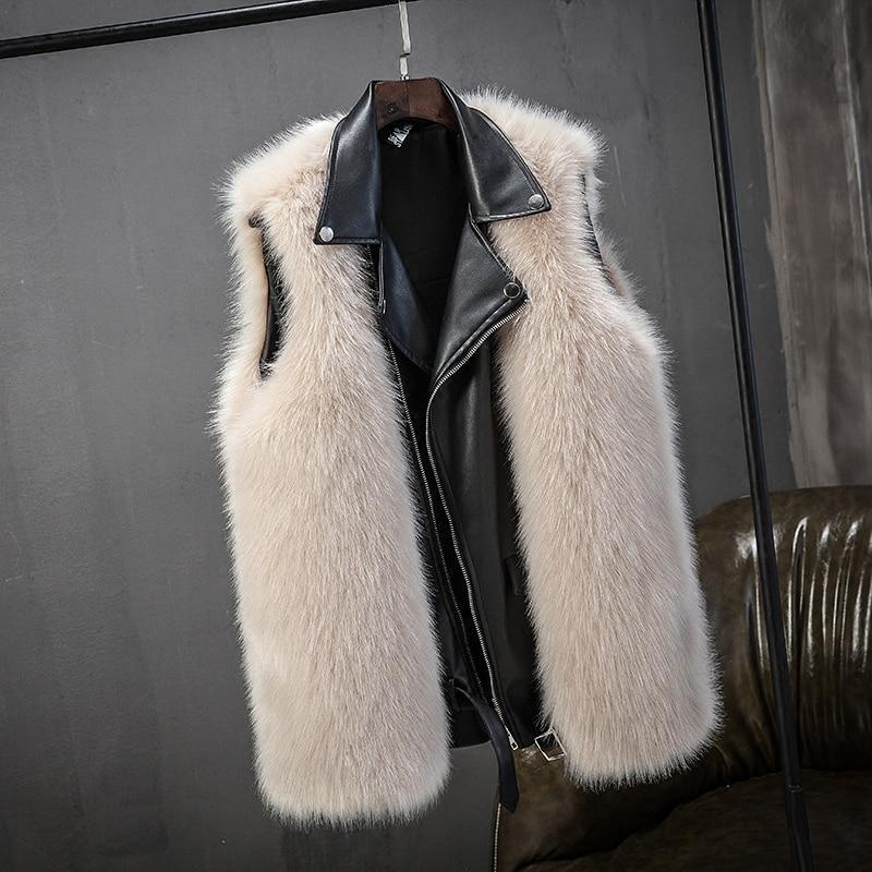 2018 Neue Mode Faux Pelzmantel Winter Mantel Frauen Taille Mantel Pelz Thicekn Frauen Der Pelz Jacke Pelz Weste Für Damen Schnelle WäRmeableitung