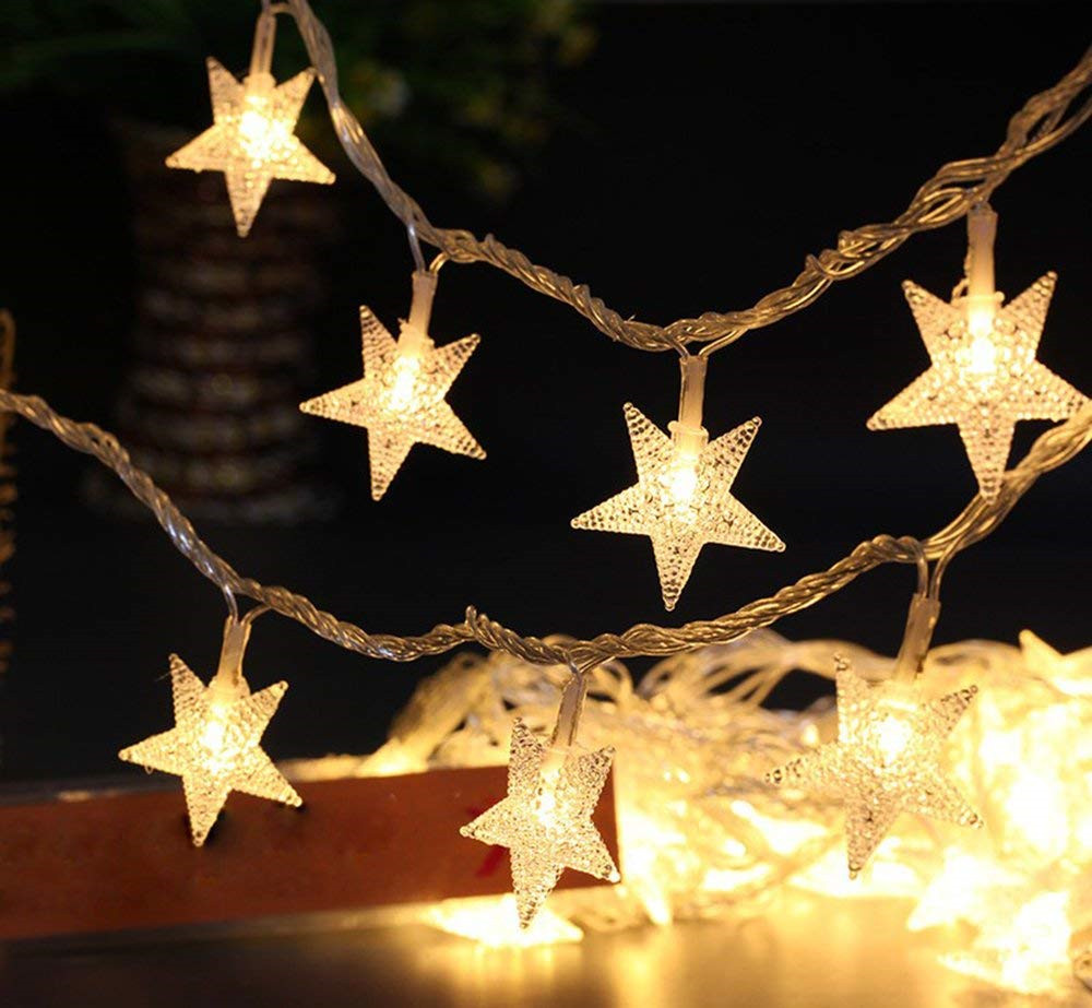 Star 1.5M 10Leds Christmas String Light Battery Powered Home Fairy Decoration Warm White Or Colorful For Bedroom,Party,Holiday