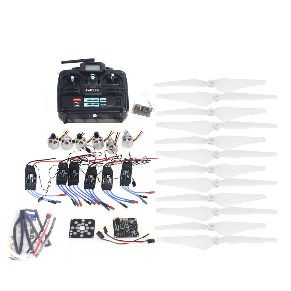 F14711-J RC HexaCopter ARF Electronic:30A ESC 920KV Motor KKMulticopter V2.3 Control Board  Propeller Radiolink T6EHP-E RX&RX generic roland rs 640 feed motor board