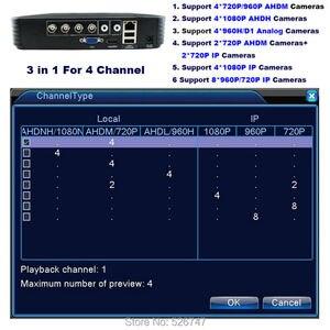 Image 2 - מיני טלוויזיה במעגל סגור DVR 4 ערוץ 8 ערוץ 1080N AHD DVR וידאו דיגיטלי מקליט 5 ב 1 היברידי DVR 1080P NVR אבטחת מעקב P2P