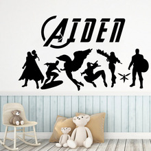 Classic The Avengers Wall Art Decal Decoration Fashion Sticker vinyl Stickers Diy Home Accessories Kids Room Mural