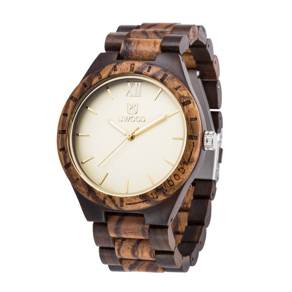 2018 relogio masculino UWOOD Watch Fancy purple zebra natural sandal wood watch Band Luxury Wood Watches for Men as Gifts Item uwood simplify men purple heart sandal wood watch fashion purple color wooden watches for mens luxury dress wristwatch gift