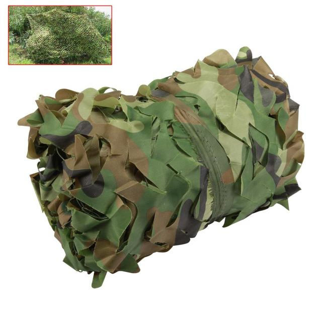 CN RU DE 4*5m Camouflage Net Woodland Jungle Leaves Camping Camo Camouflage Netting Car Shade Cover With Hang Rope 3 color