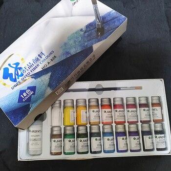 Marie's12/18 컬러 섬유 페인트 손으로 그린 페인트 섬유 헝겊 페인트 아크릴 안료 diy 색상 다채로운 퇴색하지 마십시오