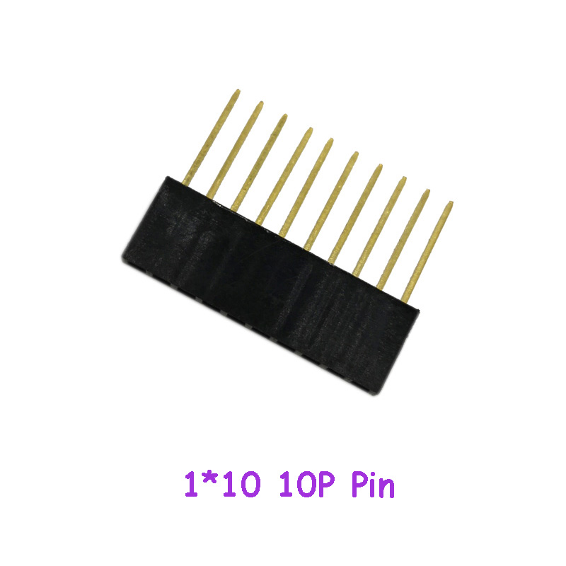 10pcs/lot Special Row Mother PC104 Long Row Mother 2.54 Pitch 1*10 10P Pin 11MM