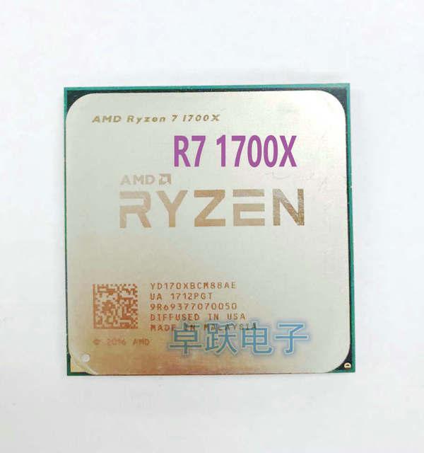 Amd Ryzen 7 1700x R7 1700x 3 4 Ghz Eight Core Cpu Processor