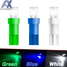 Speedometer Wedge Side Bulb Concave Lens Green White Blue 10pcs T5 LED Car Dash Dashboard Lights 74 73 286 Instrument anel Lamp(China)