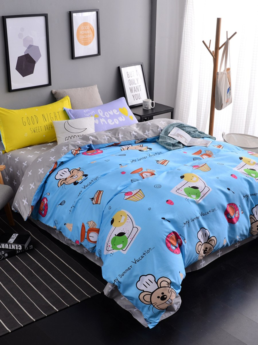 Duvet Cover Set 3/4 Pcs Cartoon Cute Comfortable Home Linens Duvet Cover Set 3/4 Pcs Cartoon Cute Comfortable Home Linens