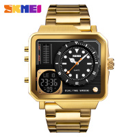 Mens Gold Watches Digital Electronic Watch Stainless Steel Watches Personality Watch Wrist Relogio Masculino 2018 Fashion Clock