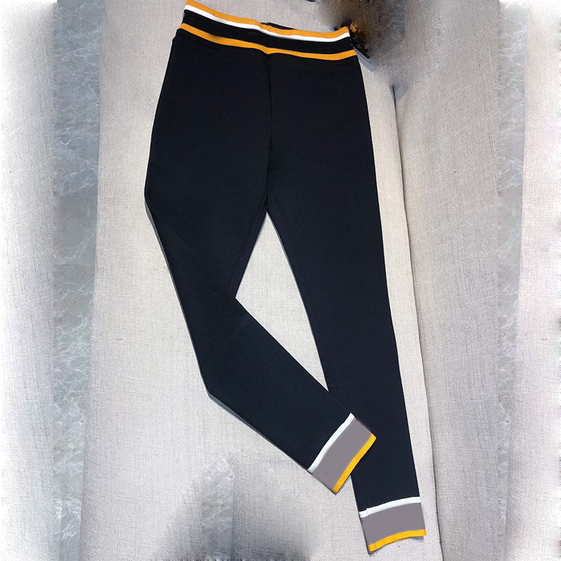 Cotone Nero delle donne Pantaloni Della Matita 2019 di Marca di Modo Dei Pantaloni Pieni di Lunghezza Dei Pantaloni di Alta Qualità Delle Donne