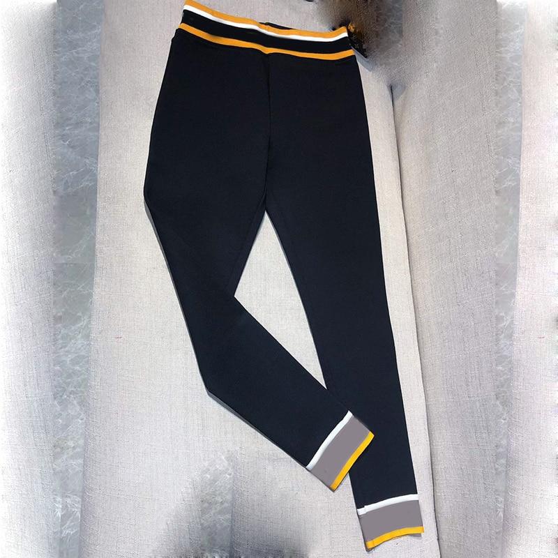 Femmes de Noir Coton Crayon Pantalon 2019 Marque De Mode Pleine Longueur Pantalon de Haute Qualité Pantalon Femmes