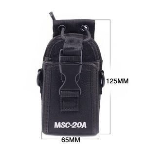 Image 2 - 2 قطعة Abbree MSC 20A النايلون اسلكية تخاطب حمل حامل ل Baofeng اتجاهين راديو UV 5R/82 BF 888S سلسلة راديو الحافظة