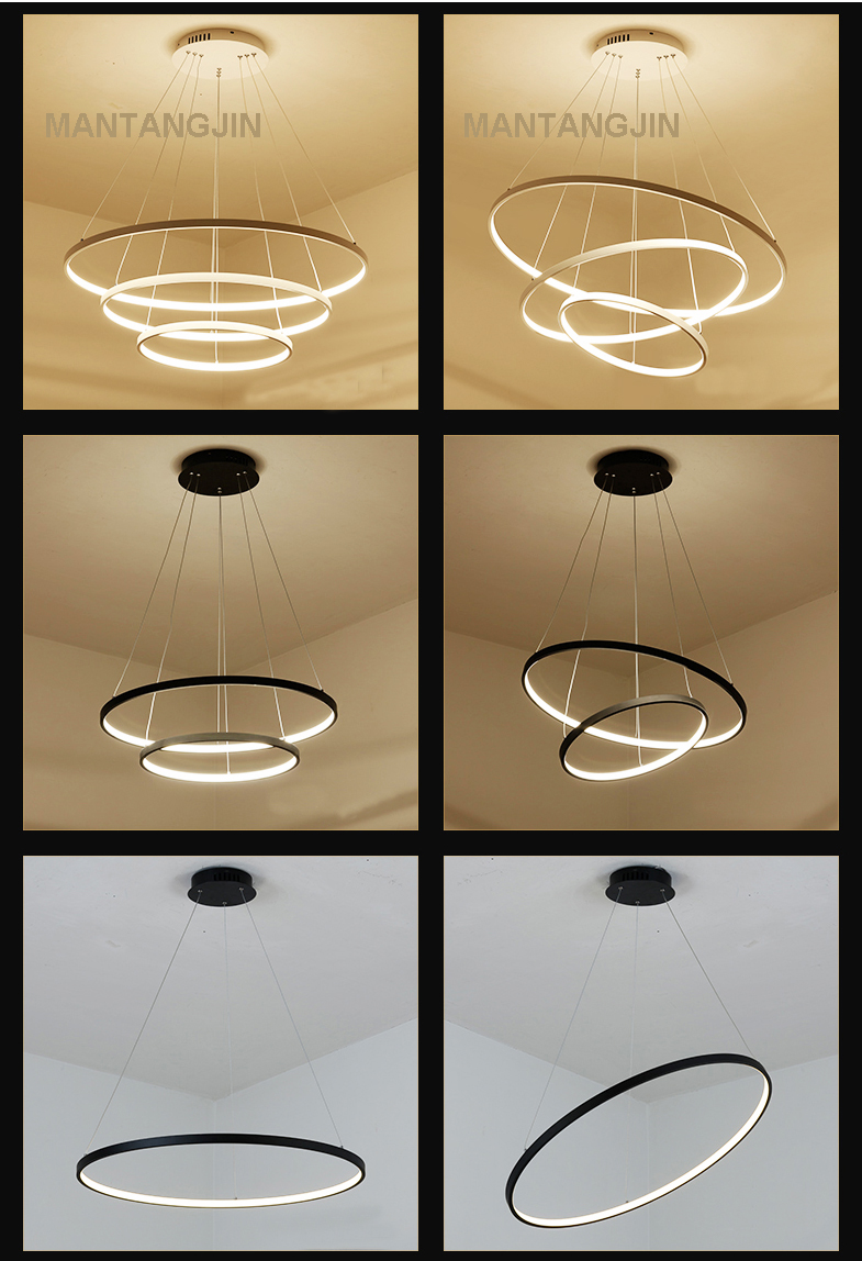HTB1XpaqyL1TBuNjy0Fjq6yjyXXa8 60CM 80CM 100CM Modern Pendant Lights For Living Room Dining Room Circle Rings Acrylic Aluminum Body LED Ceiling Lamp Fixtures