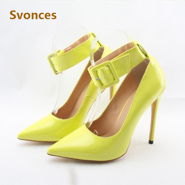 049d7f6ff69 New Sex Lady Pumps Patent Leather Shinning Designer Thin High Heels Sandals Women  Pointed Toe Heeled Party Shoes Zapatos Mujer