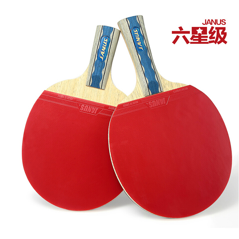 ФОТО Janus 6002 one star Brand Quality Table tennis racket Ddouble face Pimples-in rubber Ping Pong Racket