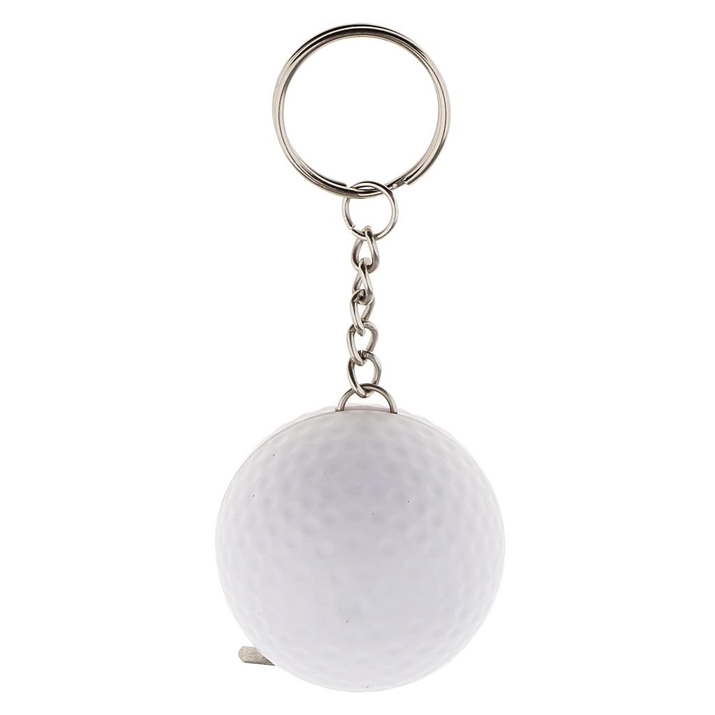 Funny White Golf Ball Pendant Keychain 100cm Tapeline Keyring ...