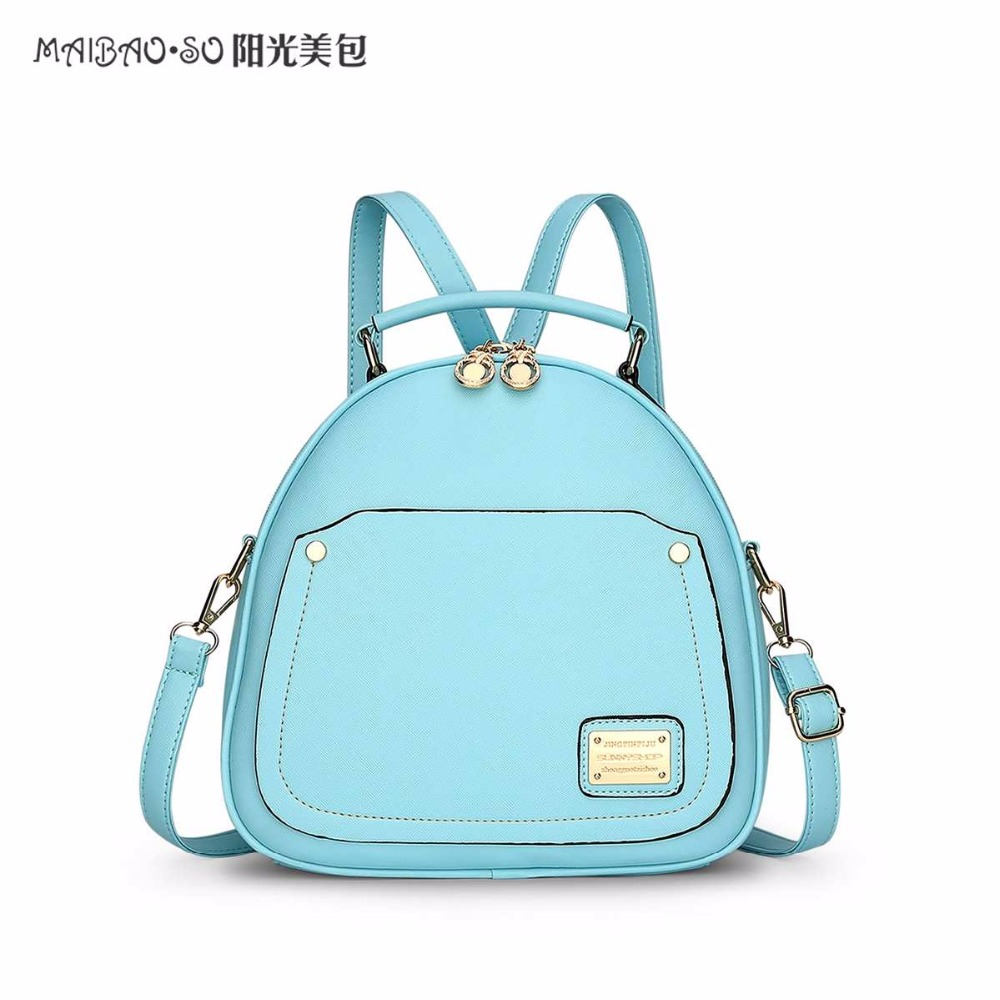 Maibao so Candy Color Spring Small Women Backpacks School Bags For Teenage Girls Fashion Leather Mini Backpack Bagpack