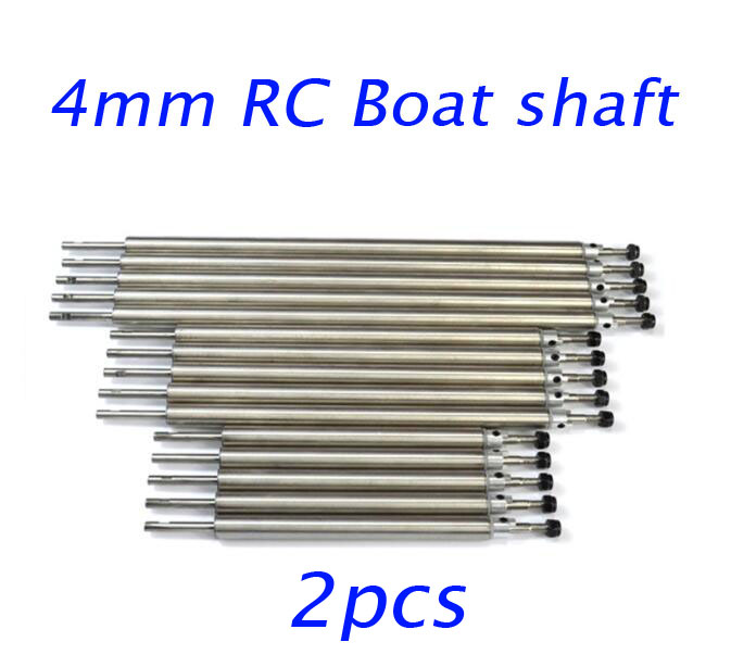 2pcs 4mm RC Boat stainless steel shaft driven shaft set 50/100/150/200/250/300mm driven to distraction