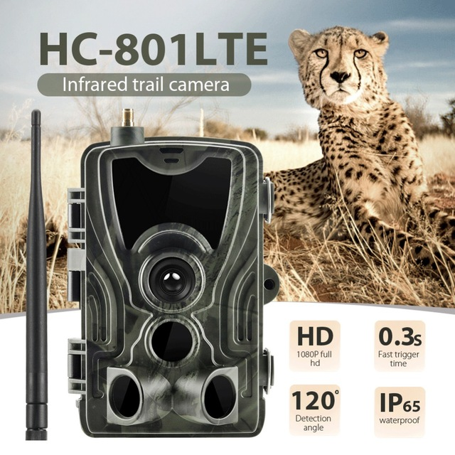 4G MMS HC801LTE caméra de suivi 16MP 0.3 S déclencheur Photo piège infrarouge Vision nocturne faune chasse caméras de Surveillance