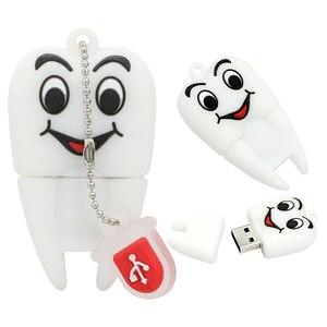 Image 5 - Rzeczywista pojemność kształt zęba USB flash dyski 4GB 8GB 16GB 32GB 64GB zęby Pen Drive dysk USB flash pendrive dysk zewnętrzny