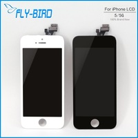 10PCS/LOT For iPhone 5 5G LCD White&Black Display Touch screen with digitizer Assembly + Adhesive Tape Free shipping