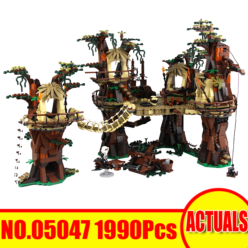 Lepin 05047 1990Pcs Star Wars Figures The Ewok Village Building Blocks Bricks Set Toys For Children Compatible 10236 Model Gift new lepin 16009 1151pcs queen anne s revenge pirates of the caribbean building blocks set compatible legoed with 4195 children