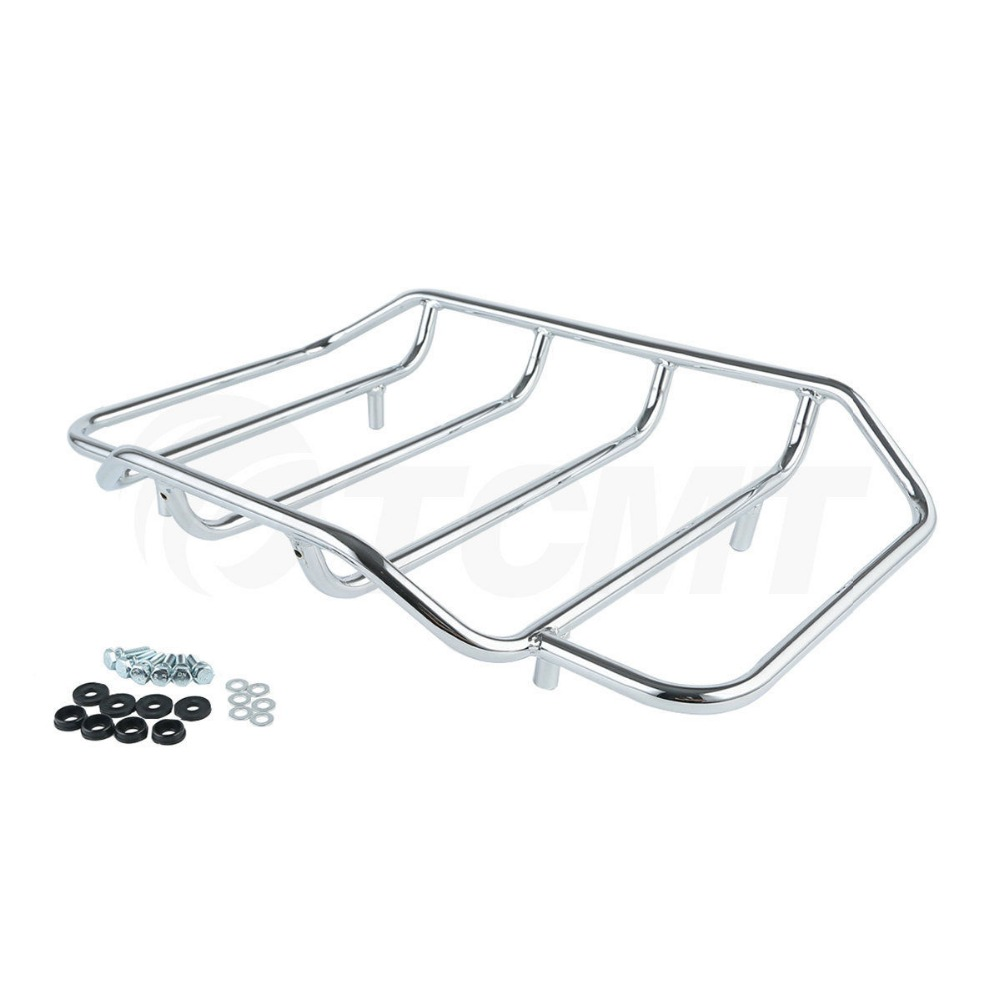 лучшая цена Tour Pak Luggage Rack For Harley Touring Road King Street Glide Classic Special Motorcycle
