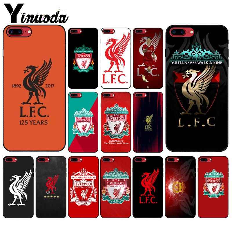 Yinuoda Liverpool FC DIY Painted Beautiful Phone Accessories Case for Apple iPhone 8 7 6 6S Plus X XS MAX 5 5S SE XR Cover