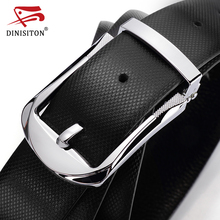 DINISITON High Quality First Layer Belt Cow Genuine Leather Belts For Men Business Pin Buckle Designer Strap Male Cinto PX217