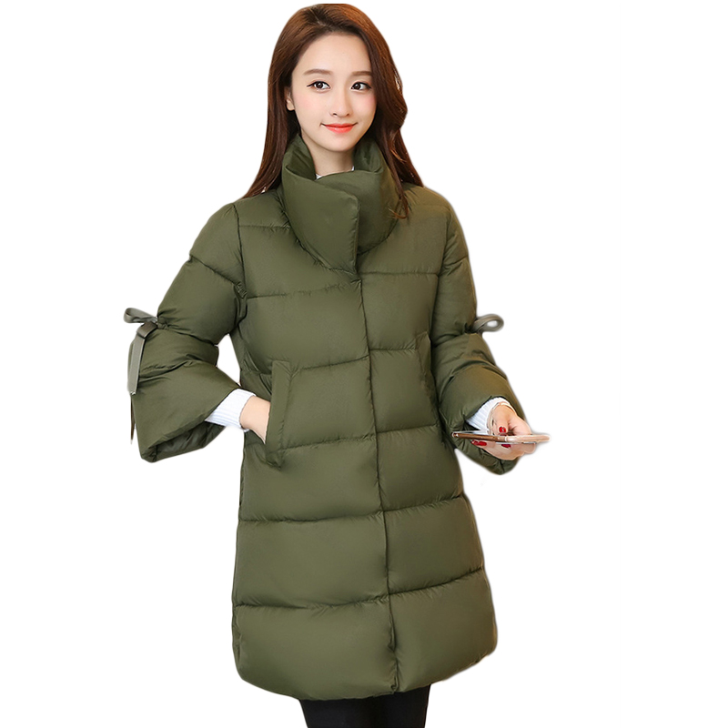 New Style Women Winter Jackets 2017 Girls Sweet Stand Collar Warm Parkas Female Elegant Seven Sleeves Down Cotton Coats CM1792 brown sugar kitchen new style down home recipes from sweet west oakland
