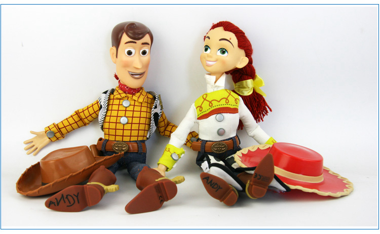 Pixar Toy Story 3 Talking Woody Jessie PVC Action Figure Collectible Model Toy Doll free shipping toy story 3 sheriff woody posable figure retail box t 020