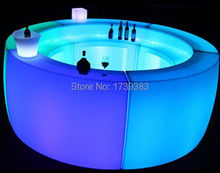 Multicolor Rechargeable LED Bright furniture,Corner Bar,LED Break  Bar Table,Remote control Luminous Counter