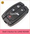 5 шт./лот ** Smart Remote Key Case Fob Замена Корпуса 5 Кнопки для LAND ROVER LR2 2008-2011