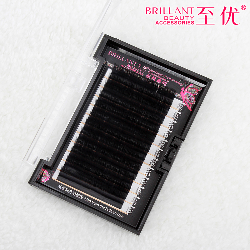 2016 Soft Mink Eyelashes B C J Curl 0.05 thickness Fake False Lashes High Quality Individual Makeup Eyelash Extention