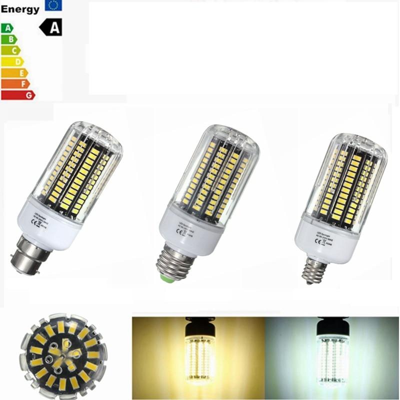 LED Light 18W 5736SMD 140 LED Lamp Bulb E27/E14/E12/E17/B22 LED Corn Light Bulb 85-265V Pure Natural Warm White 1800lm led bulb 5736 smd more bright 5730 led corn lamp bulb light real full wat 3 5w 5w 7w 8w 12w 15w e27 e14 85v 265v no flicker