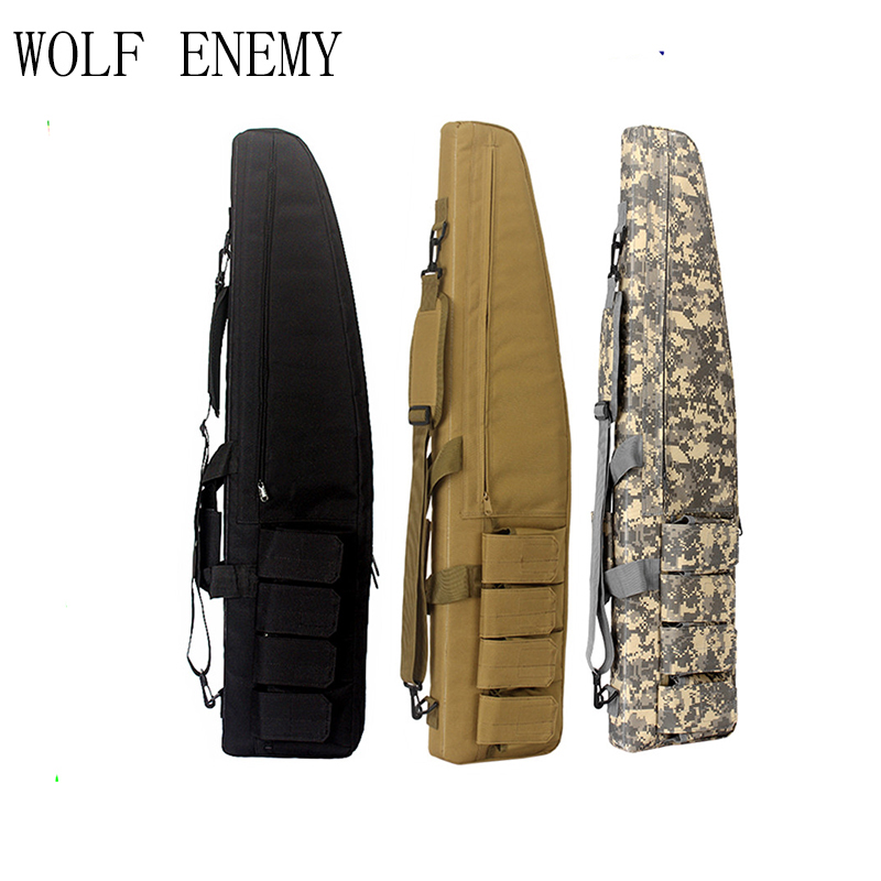 Bolsa de Arma Tático Airsoft Paintball Caça Tiro Rifle Case Arma Carabina Shotgun Bolsa 130cm Mod. 89363