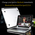 New Smart Design Bluetooth Keyboard For iPad 2 iPad 3 iPad 4 Change To For Macbook