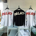Palácio Skate Tee Batwing Camisa Rápida Peso Pesado Manga Longa Hip Hop Supremo Kanye West Fantasma Palais T-shirt Oversize