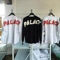 Palacio Monopatín Batwing Camiseta Rápida de Peso Pesado de Manga Larga Hip Hop Supremo Kanye West Phantom Palais de Gran Tamaño T-shirt