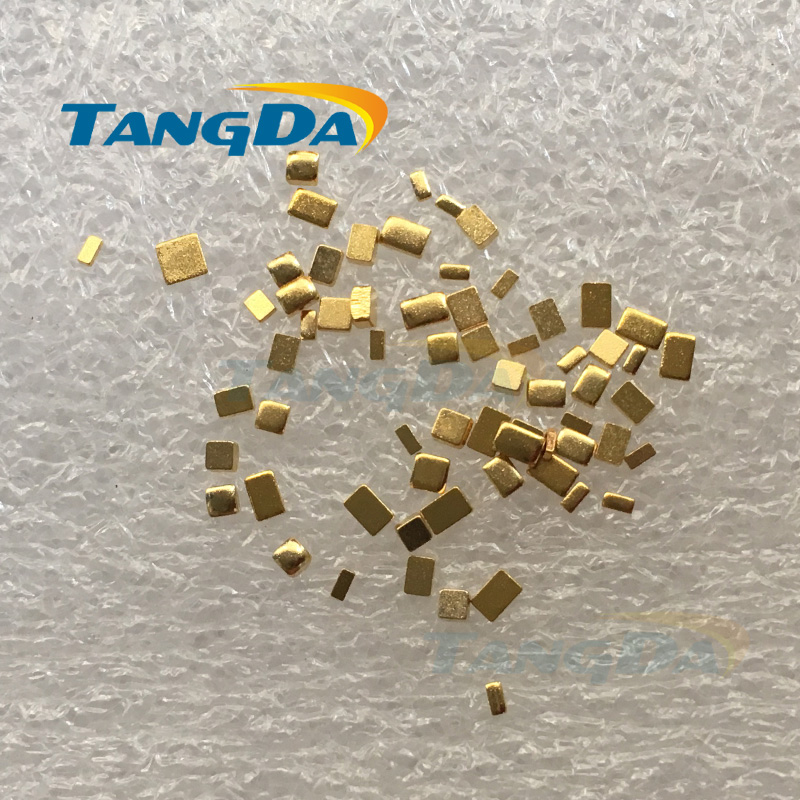 Tangda Rectangles Square Electronic Test Copper Sheet Gold